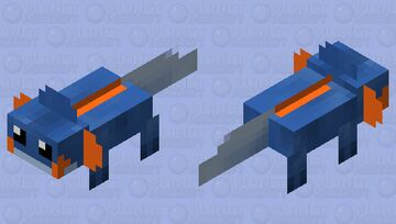 Very Blue Mupkip Minecraft Mob Skin