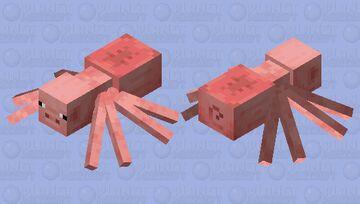 Cursed Spider Pigs Minecraft Mob Skin