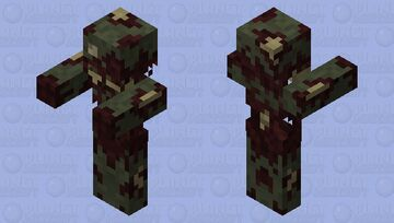 Improved Zombie Model Minecraft Mob Skin