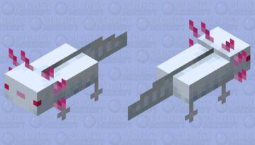 Accurate Albino Axolotl Minecraft Mob Skin