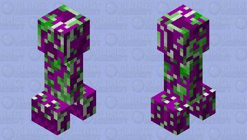 purple-corrupted creeper Minecraft Mob Skin