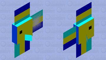 Yellow/Cyan/Blue tropical fish Minecraft Mob Skin