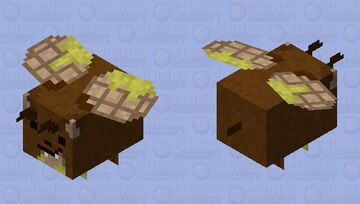 Waffle Bear Bee Minecraft Mob Skin