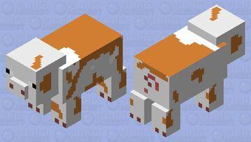 piebald pig Minecraft Mob Skin