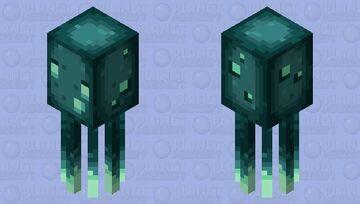 Darker glow squid Minecraft Mob Skin