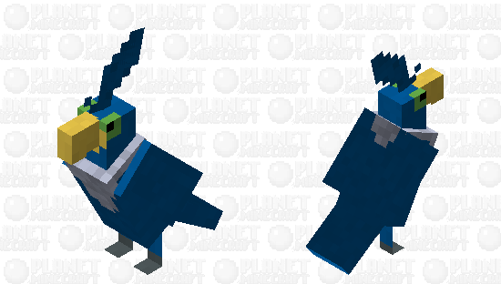 Cramorant - Pokemon Parrot Replacer Minecraft Skin