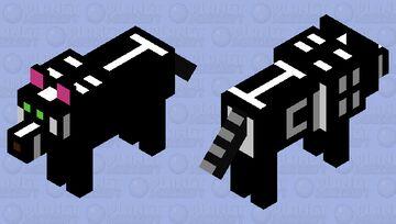 Dark Wolf Minecraft Mob Skin
