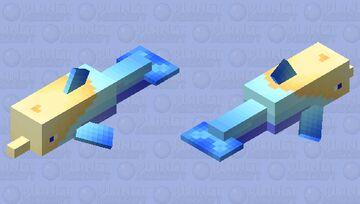 Beachy Dolphin Minecraft Mob Skin