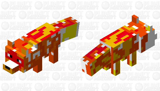 Lava fox Minecraft Skin