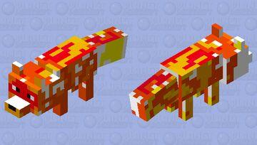 Lava fox Minecraft Mob Skin
