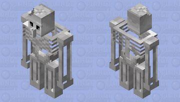 esqueleto Golem Minecraft Mob Skin
