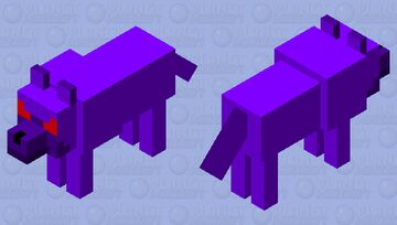 Angry Void Wolf Minecraft Mob Skin