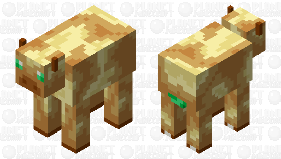 Cow: Totem of Undying Palette Minecraft Skin
