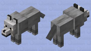 A darker wolf Minecraft Mob Skin