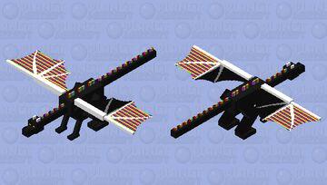 Rainbow dragon Minecraft Mob Skin