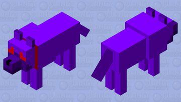Tamed Void Wolf Minecraft Mob Skin