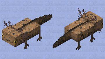 Wild axolotl Minecraft Mob Skin