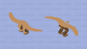 a very buff pterodactyl Minecraft Mob Skin