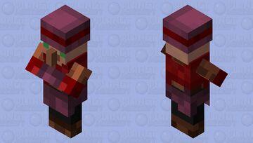 Simple Crimson Forest Villager Minecraft Mob Skin