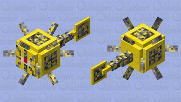 Gold ore Guardian Minecraft Mob Skin