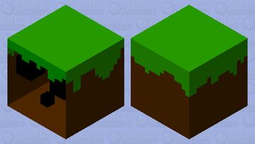 Grass block slime Minecraft Mob Skin
