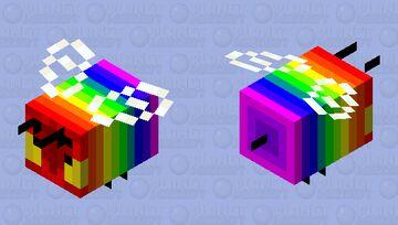 Regenbogen Biene Minecraft Mob Skin