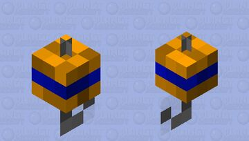 Its orange Minecraft Mob Skin