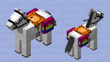 White with Rainbow chests Minecraft Mob Skin