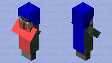 The girl with long hair Minecraft Mob Skin