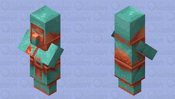 Copper Village Statue Minecraft Dungeons Hidden Depths DLC Minecraft Mob Skin
