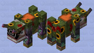 The Floral Madness Minecraft Mob Skin