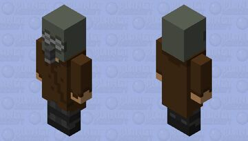 Post-Apocalyptic Vindicator Minecraft Mob Skin