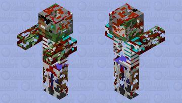 Better infected zombie herobrine Minecraft Mob Skin