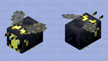Hawaiian Yellow-Faced Bee Minecraft Mob Skin