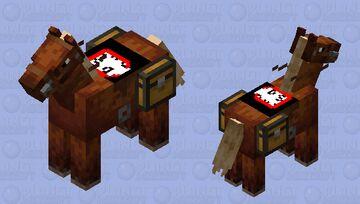 demon slayer saddled horse Minecraft Mob Skin