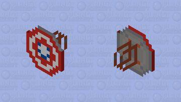 Captain America's Shield (MCU Phase 1-3) - CAPTAIN AMERICA'S SHIELD COLLECTION [CUSTOMS] Minecraft Mob Skin
