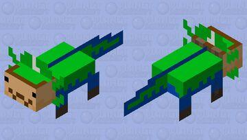 Luigi Axolotl (Darker Green) Minecraft Mob Skin