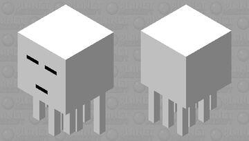 Simplified Ghast Minecraft Mob Skin