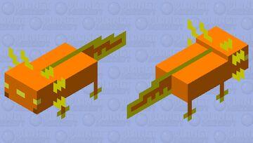 pumpkin axolotl Minecraft Mob Skin