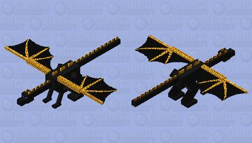 Ender Dragon but with Gold Minecraft Mob Skin