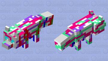paint fox Minecraft Mob Skin