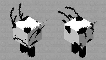 Black & white strider Minecraft Mob Skin