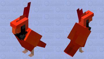 Cardinal Minecraft Mob Skin