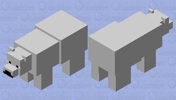 Simplified Polarbear Minecraft Mob Skin