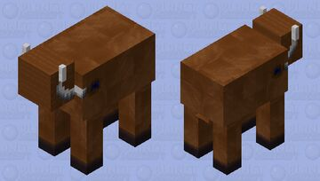 The Woolly Cammoth? ( Cow mammoth) Prehistoric Mob Practice Minecraft Mob Skin