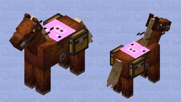 pig saddled horse Minecraft Mob Skin