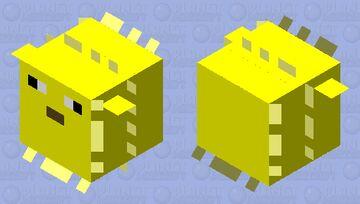 Simplified Puffer Fish Minecraft Mob Skin