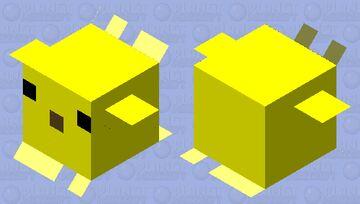 Simplified Puffer Fish 2 Minecraft Mob Skin