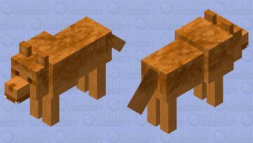 Pumpkin Pie Wolf Minecraft Mob Skin