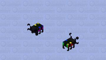 Rainbow stag beetle Minecraft Mob Skin